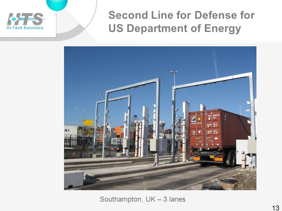 Second Line for Defense for US Department of Energy Busan Korea – 4 lanes 12