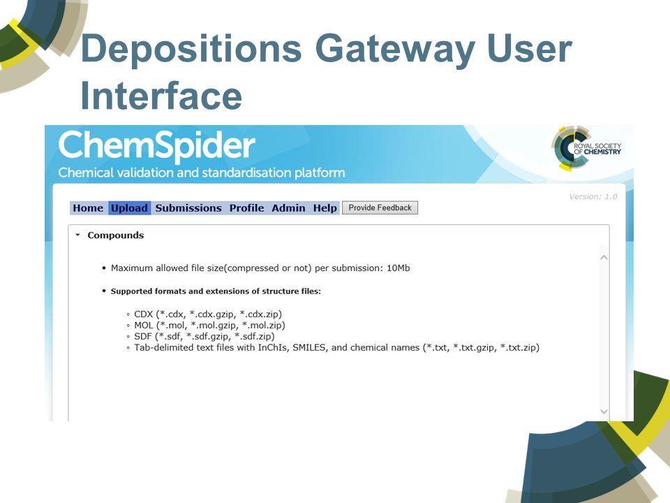 Depositions Gateway User Interface