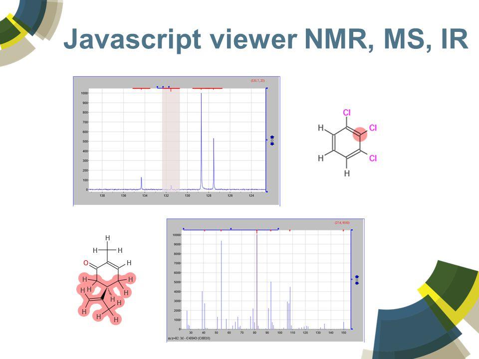 Javascript viewer NMR, MS, IR