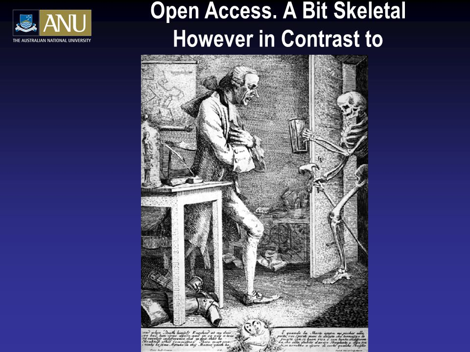 Open Access. A Bit Skeletal However in Contrast to