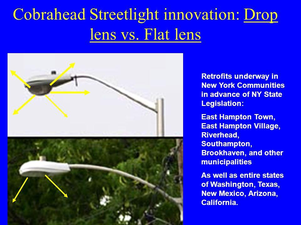 Cobrahead Streetlight innovation: Drop lens vs.