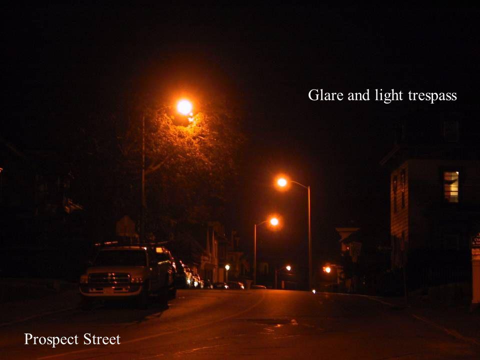 Prospect Street Glare and light trespass