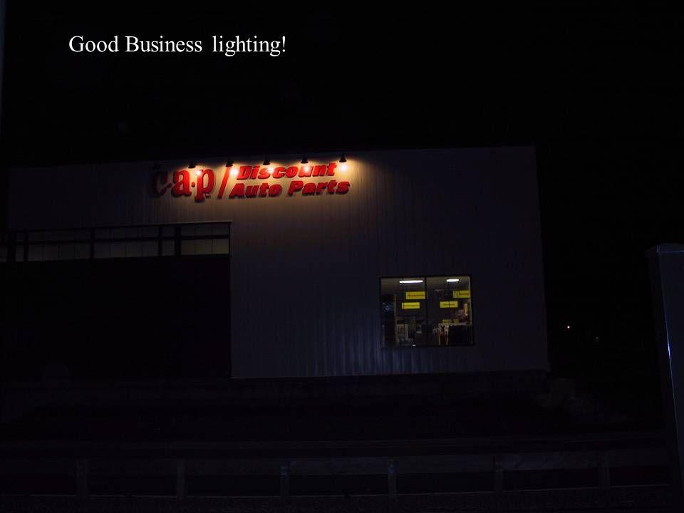 Good Business lighting!