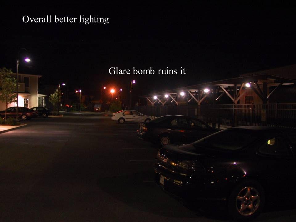 Overall better lighting Glare bomb ruins it