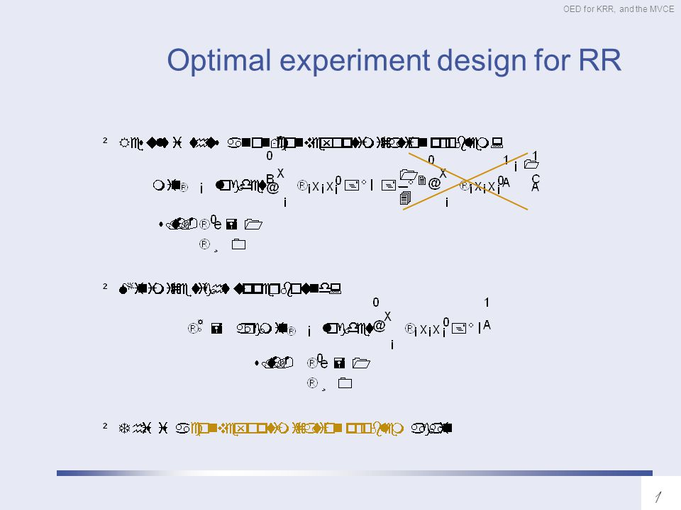 OED for KRR, and the MVCE Optimal experiment design for RR