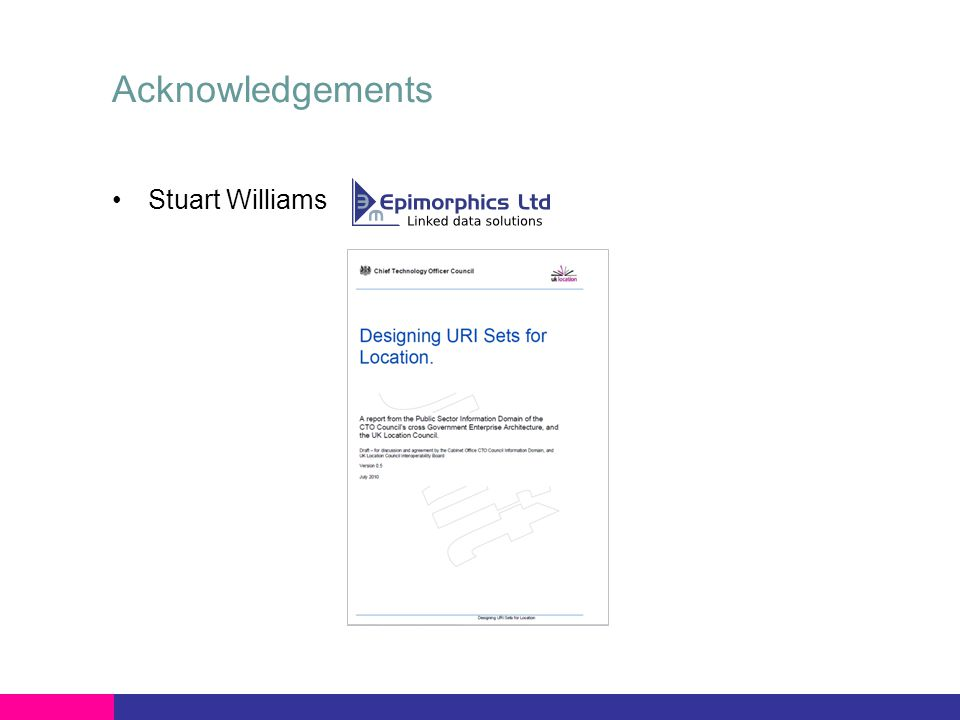Acknowledgements Stuart Williams