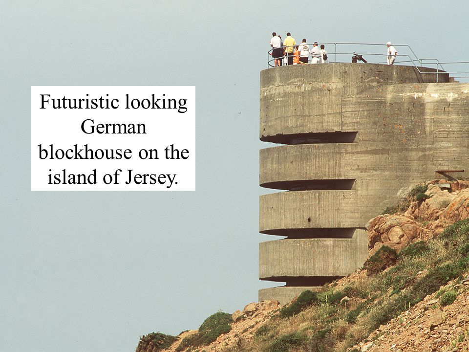 Futuristic looking German blockhouse on the island of Jersey.