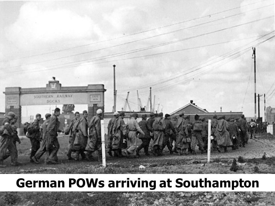 German POWs arriving at Southampton