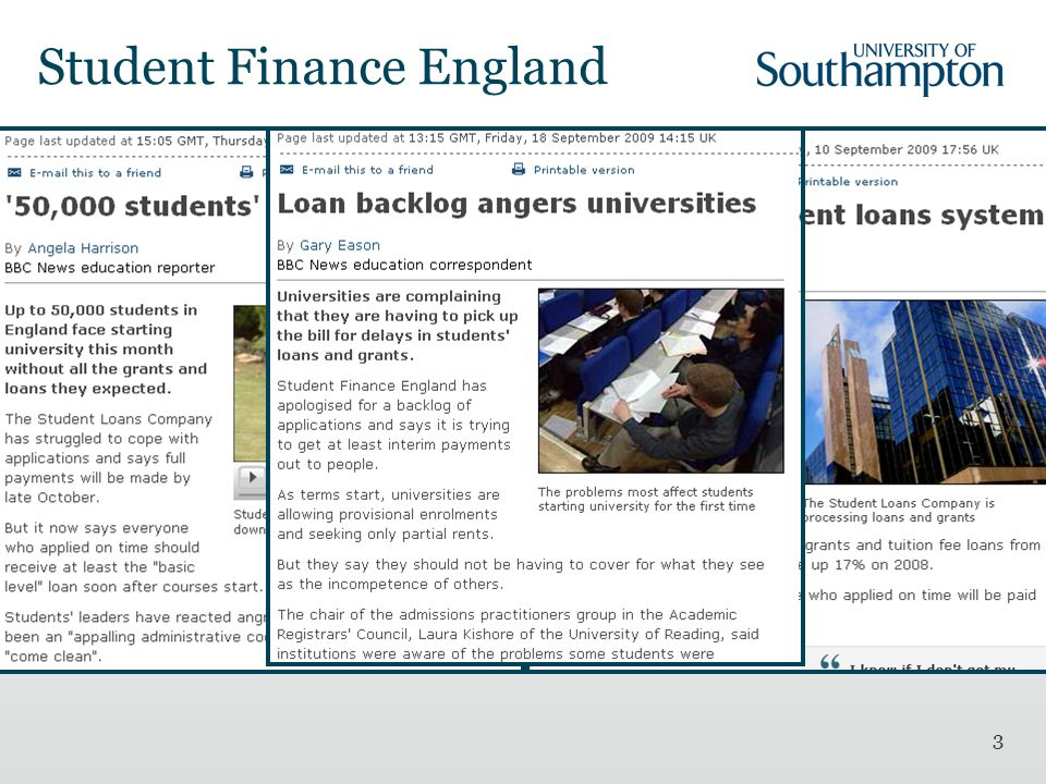 3 Student Finance England