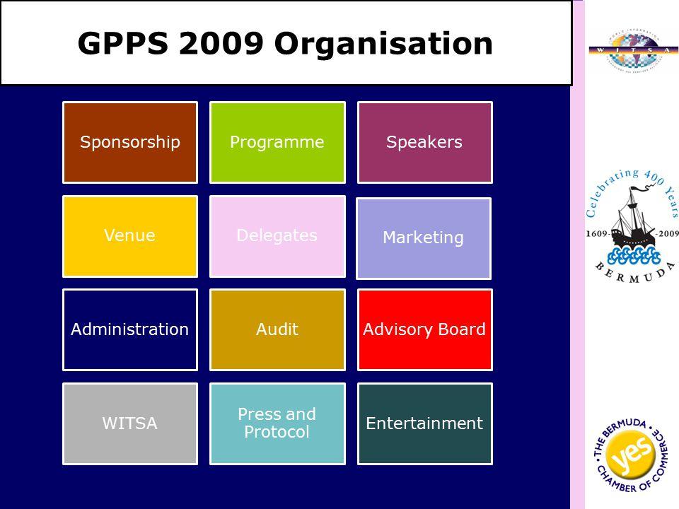 GPPS 2009 Organisation Sponsorship ProgrammeSpeakers VenueDelegates Marketing AdministrationAuditAdvisory Board WITSA Press and Protocol Entertainment