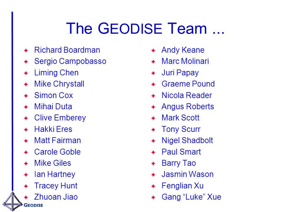 The G EODISE Team...