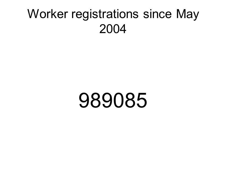 Worker registrations since May 2004 989085