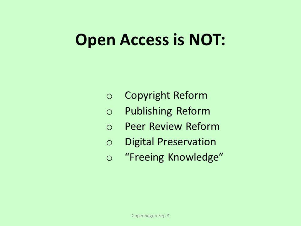 Author's URLs (UQAM & Southampton): http://www.crsc.uqam.ca/ http://users.ecs.soton.ac.uk/harnad/ BIBLIOGRAPHY ON OA IMACT ADVANTAGE: http://opcit.eprints.org/oacitation-biblio.html BOAI Self-Archiving FAQ: http://www.eprints.org/self-faq/ http://www.eprints.org/self-faq/ CITEBASE (scientometric engine): http://citebase.eprints.org/ http://citebase.eprints.org/ EPRINTS: http://www.eprints.org/ http://www.eprints.org/ OA ARCHIVANGELISM: http://openaccess.eprints.org/ http://openaccess.eprints.org/ ROAR (Registry of OA Repositories): http://roar.eprints.org/ http://roar.eprints.org/ ROARMAP (Registry of OA Repository Mandates): http://www.eprints.org/openaccess/policysignup/ ROMEO/EPRINTS (Directory of Journal Policies on author OA Self- Archiving): http://romeo.eprints.org/ http://romeo.eprints.org/ Copenhagen Sep 3