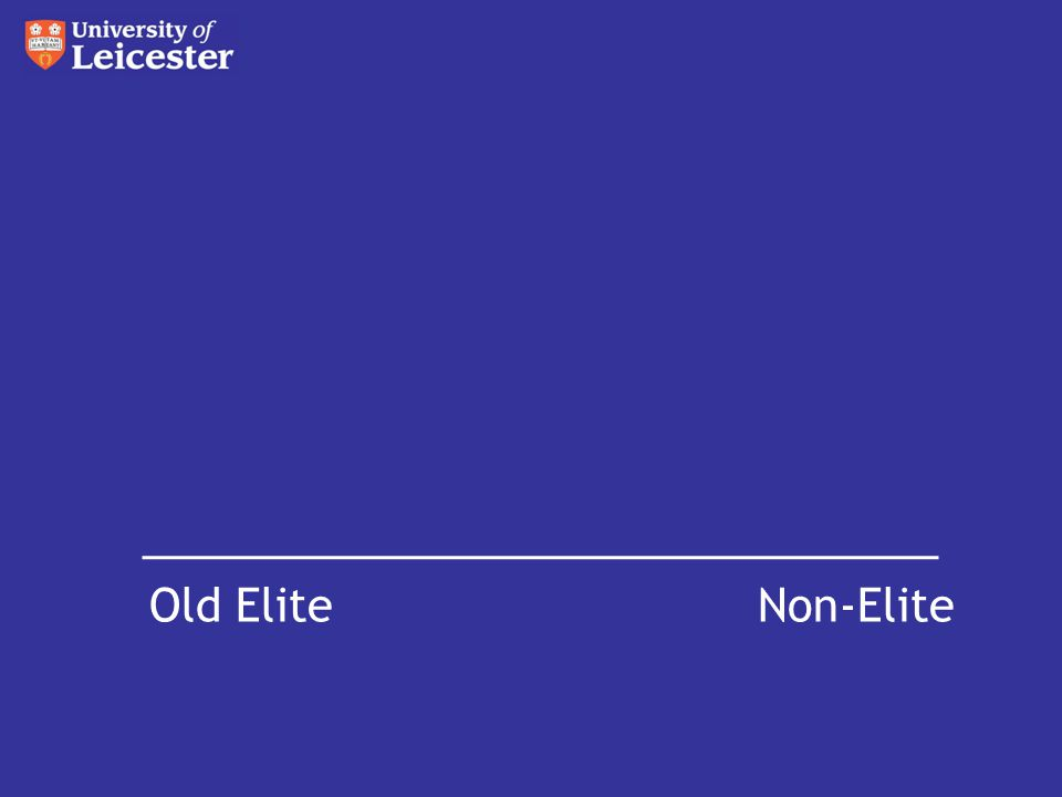 Old Elite Non-Elite