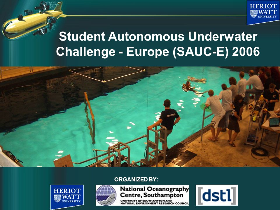What is SAUC-E.SAUC-E is the acronym for Student Autonomous Underwater Challenge - Europe.