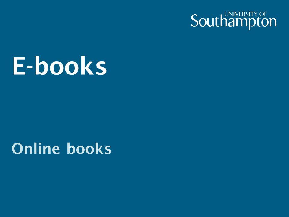 E-books Online books