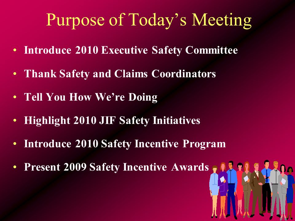 2010 Challenges Find ways to stretch resources Use on-line training resources Use your safety monies wisely Plan training well in advance Network with other Safety Coordinators Ask for help….