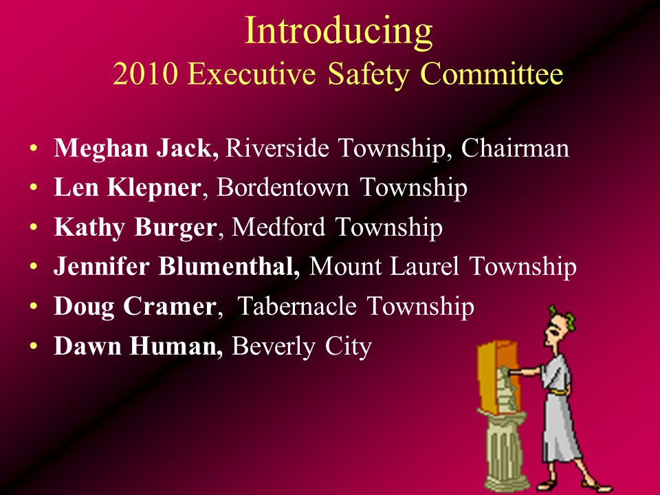 Shared Successes SAFETY TRAINING 637 BURLCO JIF employees attended MSI classes More training resources available –DVDs –Posters –On- line videos