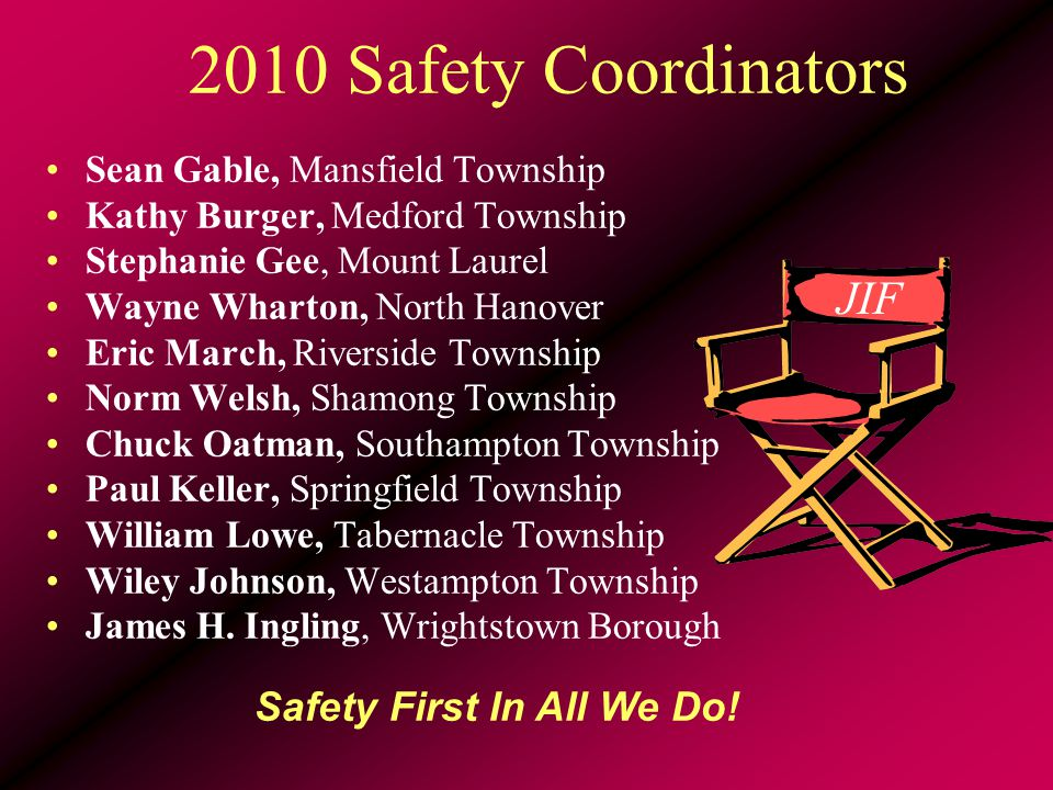 Your Risk Control Service Team Joanne Hall, Safety Director John Saville, Lead Consultant Karen La Sala, Administration Susan Kopec, Training Mgr & RTK Coordinator Natalie Dougherty, MEL Safety Institute