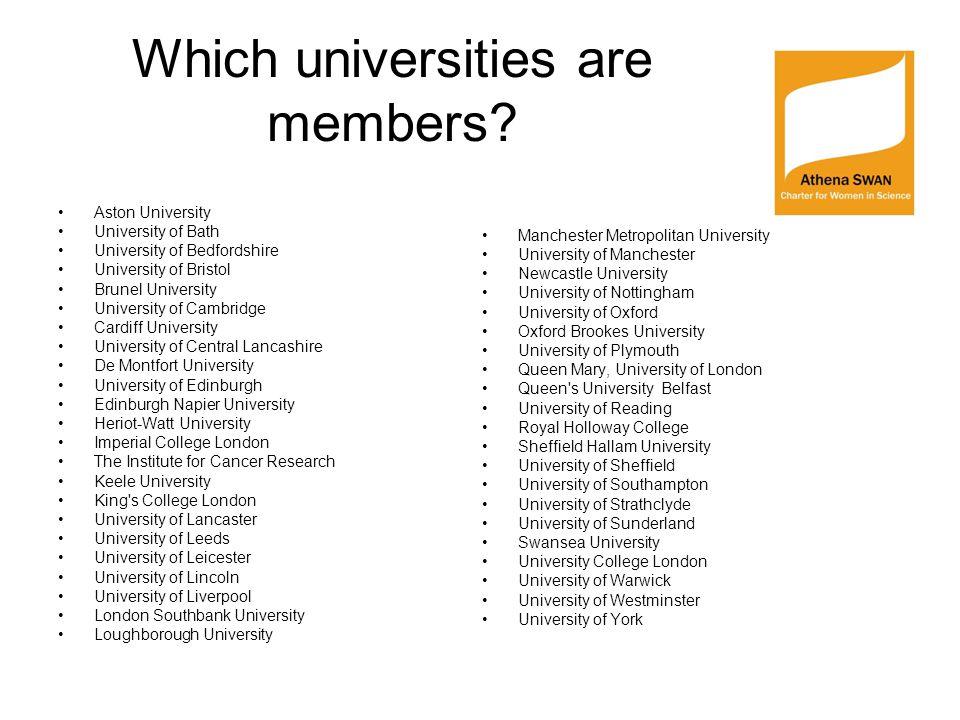 Awards Bronze (universities) Silver (departments and universities) Gold (departments and universities)