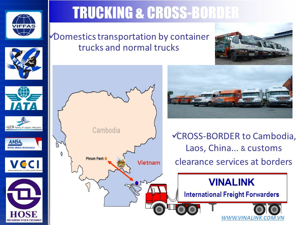 VINALINK International Freight Forwarders Vietnam CROSS-BORDER to Cambodia, Laos, China...
