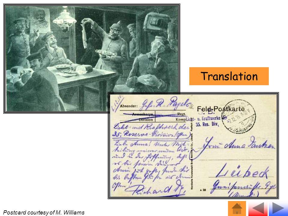 Postcard courtesy of M. Williams Translation