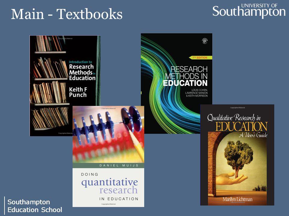 Southampton Education School Southampton Education School Main - Textbooks