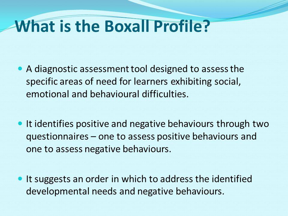 What is the Boxall Profile.