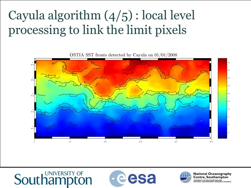 www.oceanography.ac.uk Cayula algorithm (4/5) : local level processing to link the limit pixels
