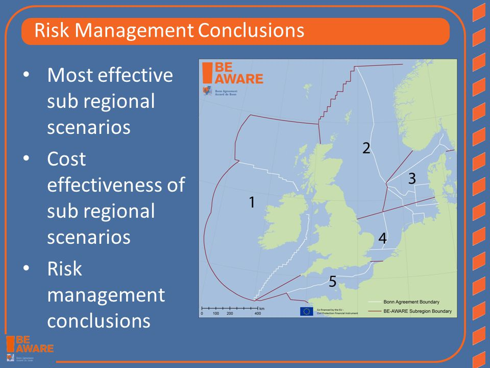 Most effective sub regional scenarios Cost effectiveness of sub regional scenarios Risk management conclusions Risk Management Conclusions