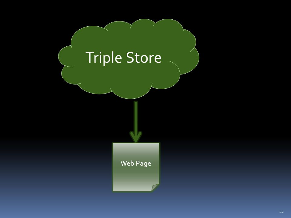 22 Triple Store Web Page