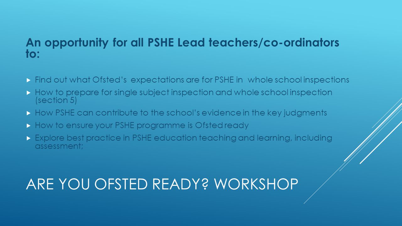 ARE YOU OFSTED READY.