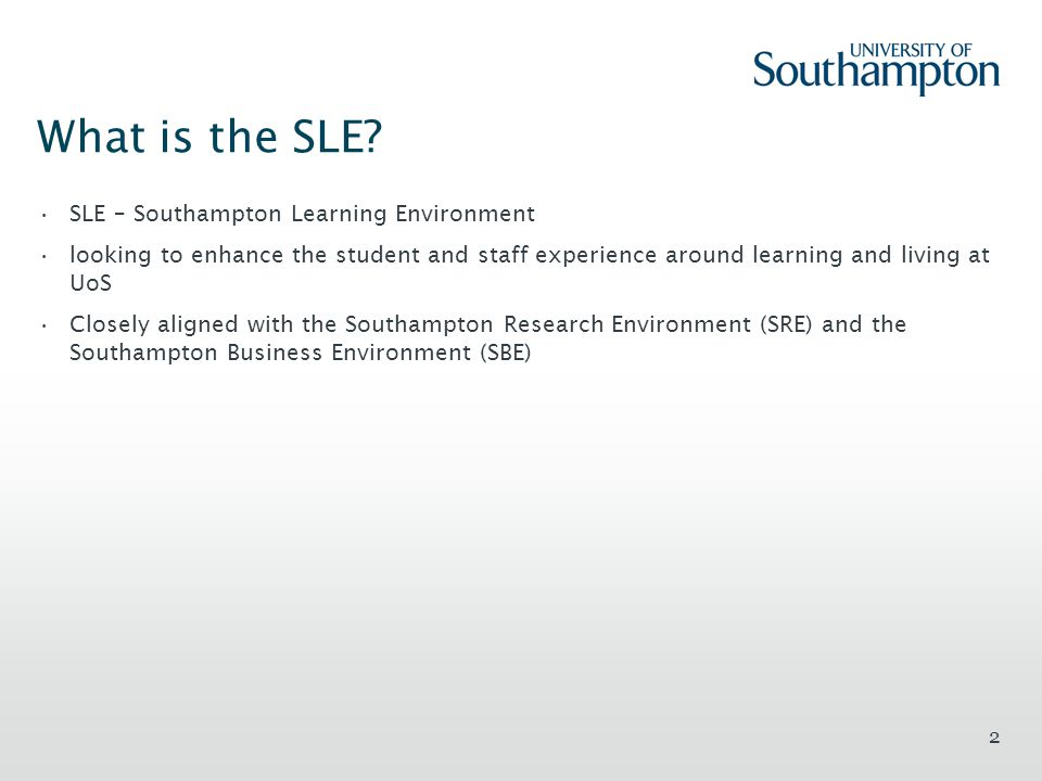 What is the SLE.