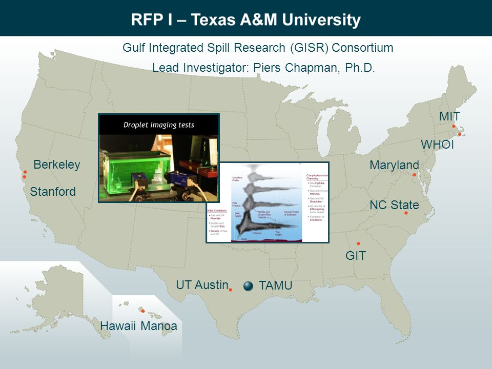 Gulf Integrated Spill Research (GISR) Consortium Lead Investigator: Piers Chapman, Ph.D.