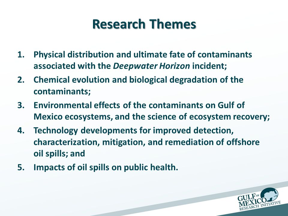The Science and Technology of Dispersants as Relevant to Deep Sea Oil Releases (C-MED) Lead Investigator: Vijay T.
