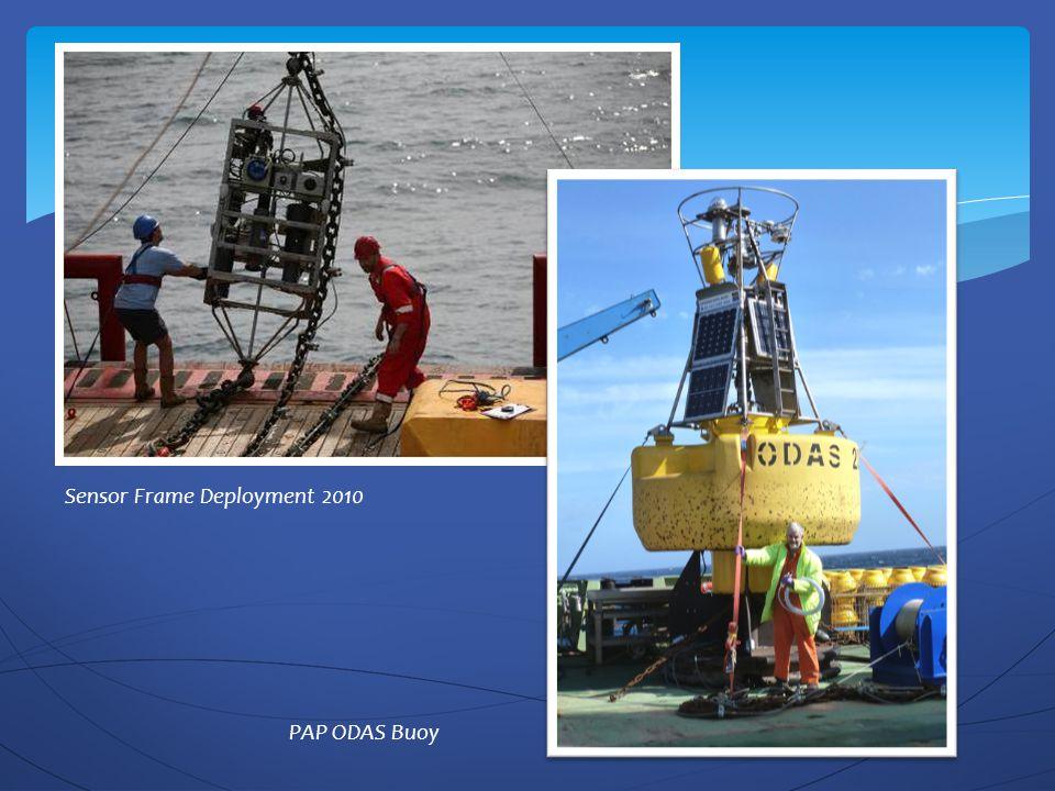 Sensor Frame Deployment 2010 PAP ODAS Buoy
