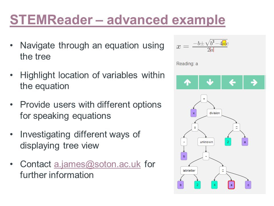 """STEMReader examples – order of operations """"Three plus two minus four squared"""" 2 different trees for the 2 different versions"""