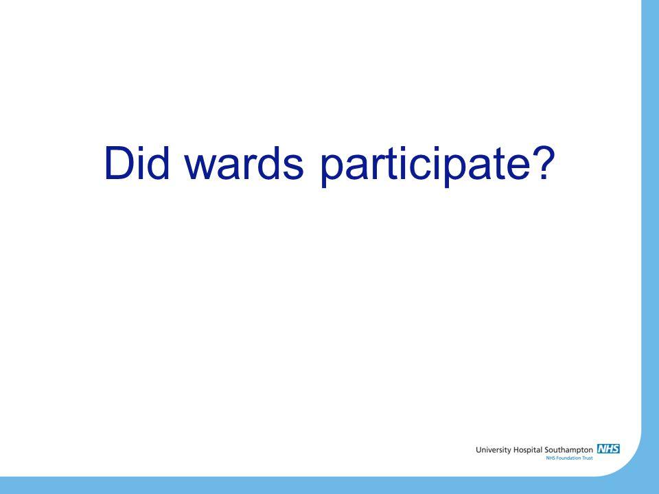 Did wards participate?