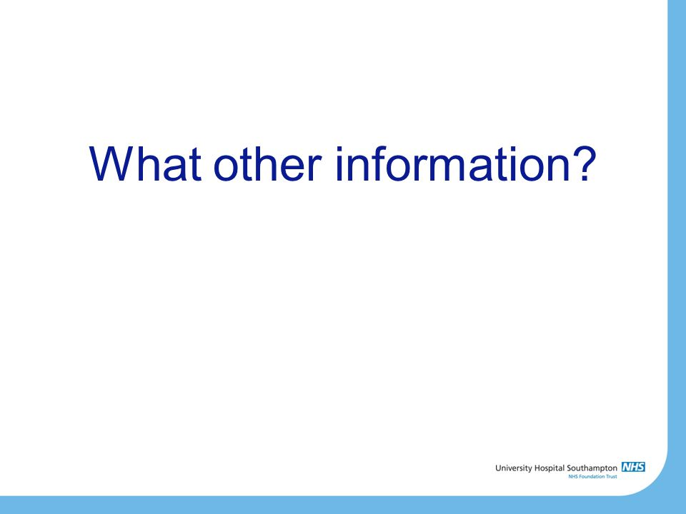 What other information?