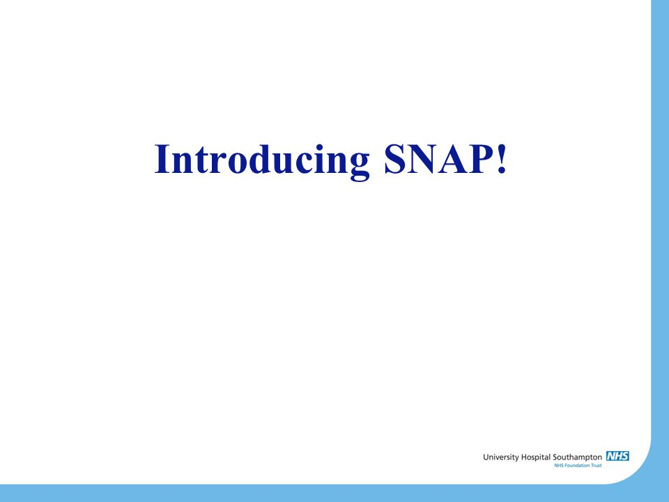 Introducing SNAP!