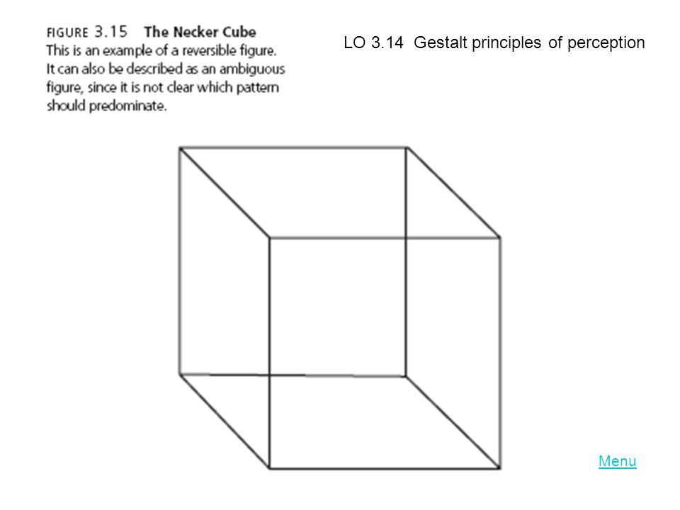 Menu LO 3.14 Gestalt principles of perception