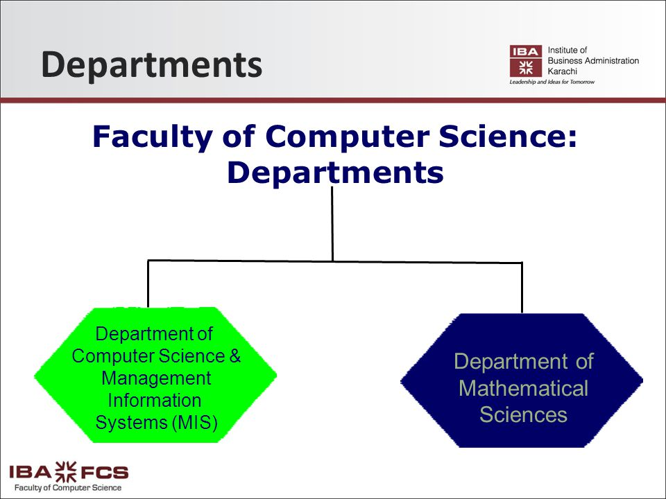 Departments Faculty of Computer Science: Departments Department of Mathematical Sciences Department of Computer Science & Management Information Systems (MIS)