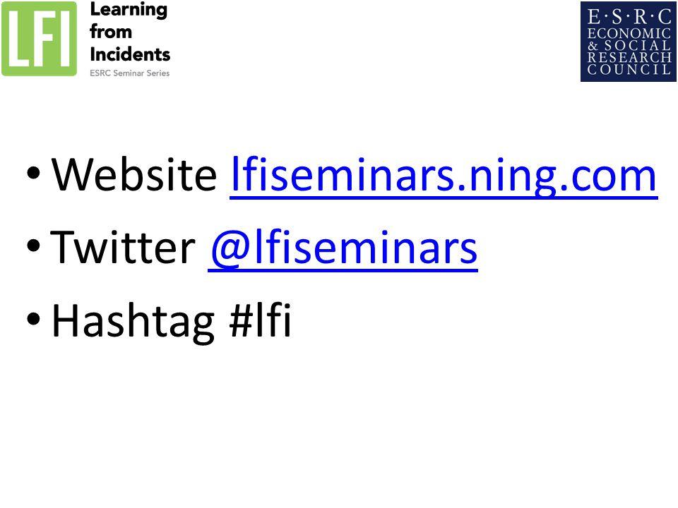Website lfiseminars.ning.comlfiseminars.ning.com Twitter @lfiseminars@lfiseminars Hashtag #lfi