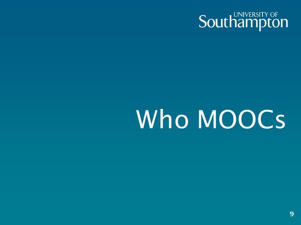 Who MOOCs 9
