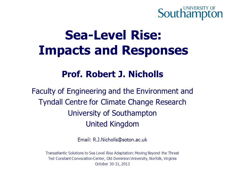 Flood Case Study: The Solent Source: Wadey et al., 2012