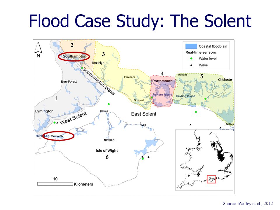 Flood Case Study: The Solent Source: Wadey et al., 2012