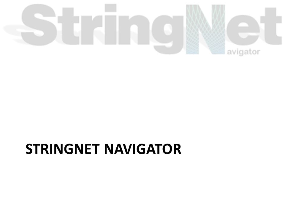STRINGNET NAVIGATOR