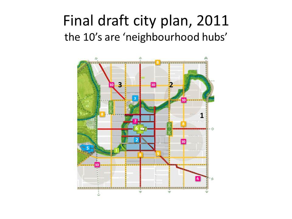 Final draft city plan, 2011 the 10's are 'neighbourhood hubs' 23 1