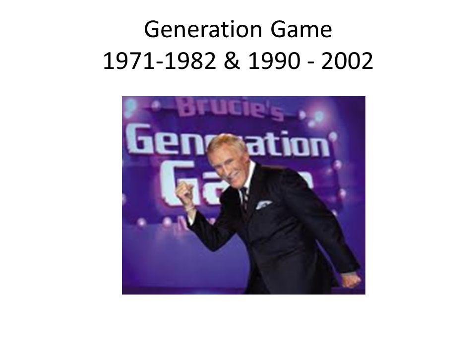 Generation Game 1971-1982 & 1990 - 2002