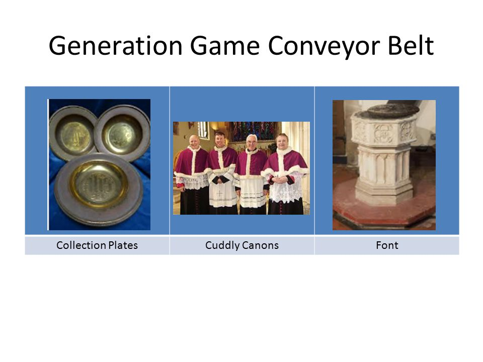 Generation Game Conveyor Belt Collection PlatesCuddly CanonsFont